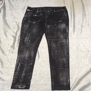 BeBe cool black and silver jeans new without tag!